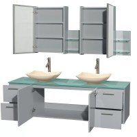 "Wyndham Collection Amare 72"" Double Bathroom Vanity Set ..."
