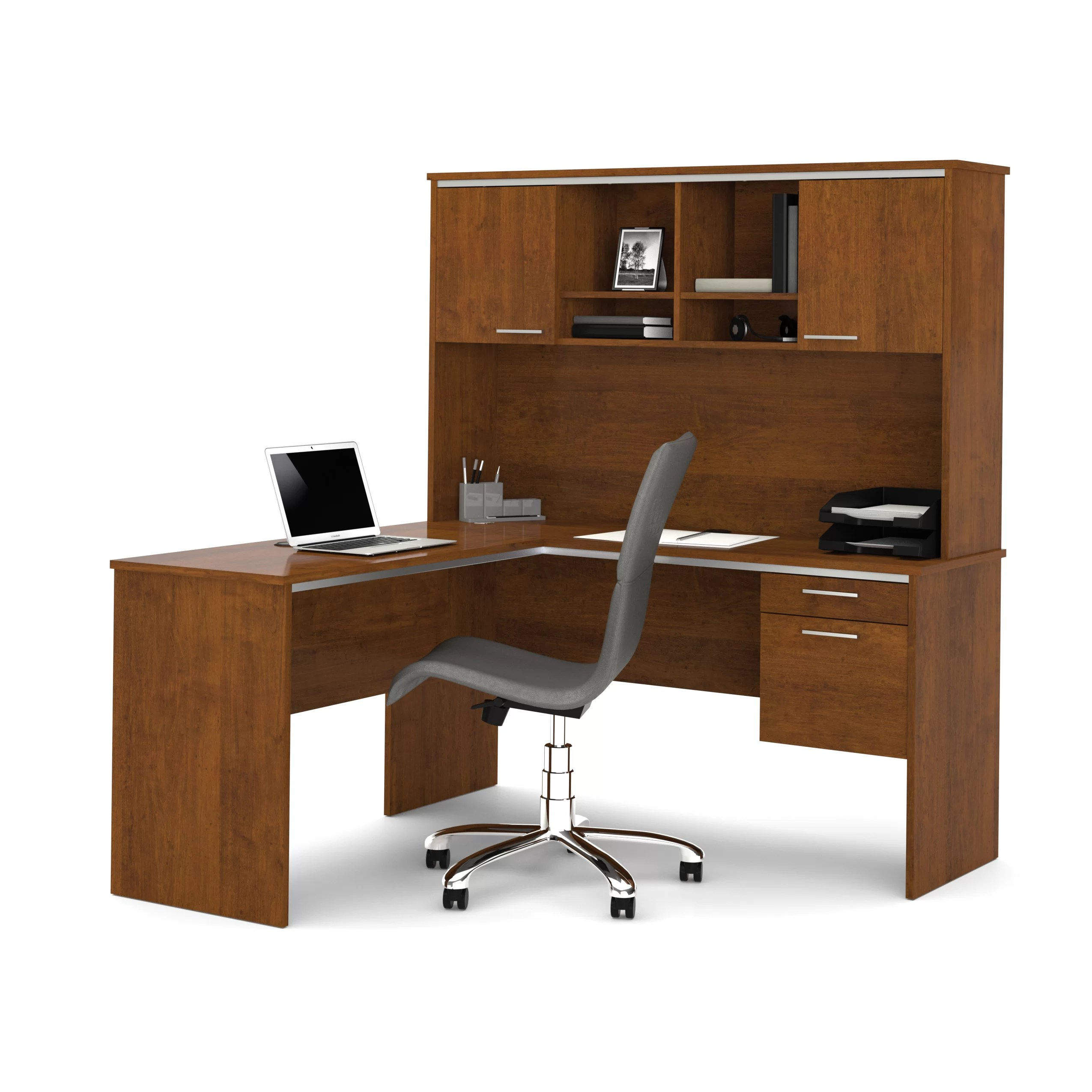 Executive Desk Canada Bestar Flare 2 Piece L Shape Executive Desk Office Suite