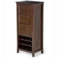 Simpli Home Burlington 12 Bottle Floor Wine Cabinet | Wayfair