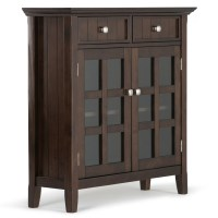 Simpli Home Acadian 2 Drawer Entryway Storage Cabinet ...