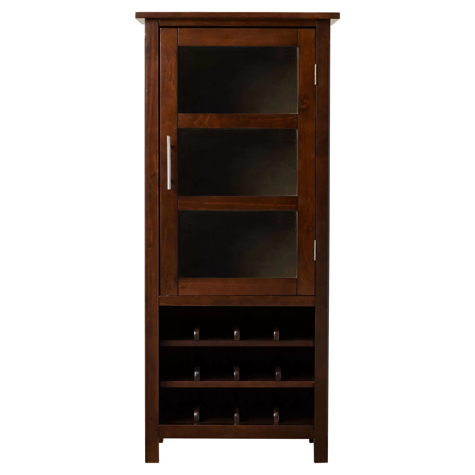 Wine Storage Cabinet Simpli Home Avalon Bar Cabinet With Wine Storage And Reviews