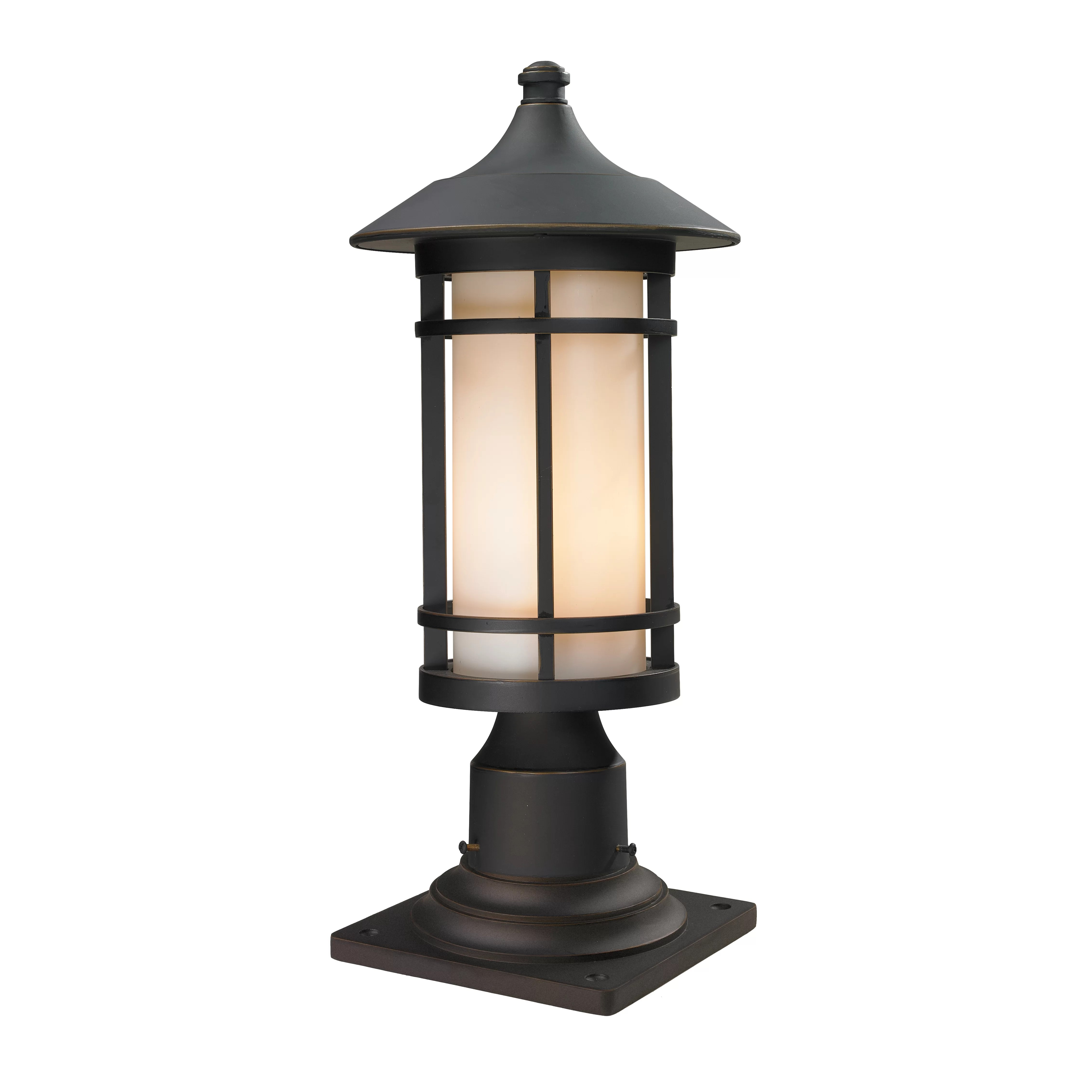 Wayfair Orb Lighting Z-lite Woodland 1 Light Outdoor Pier Mount Light & Reviews