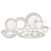 Lorren Home Trends Giada 57 Piece Porcelain Dinnerware Set ...