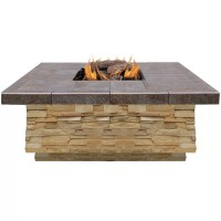 CalFlame Natural Stone Propane Gas Fire Pit & Reviews ...
