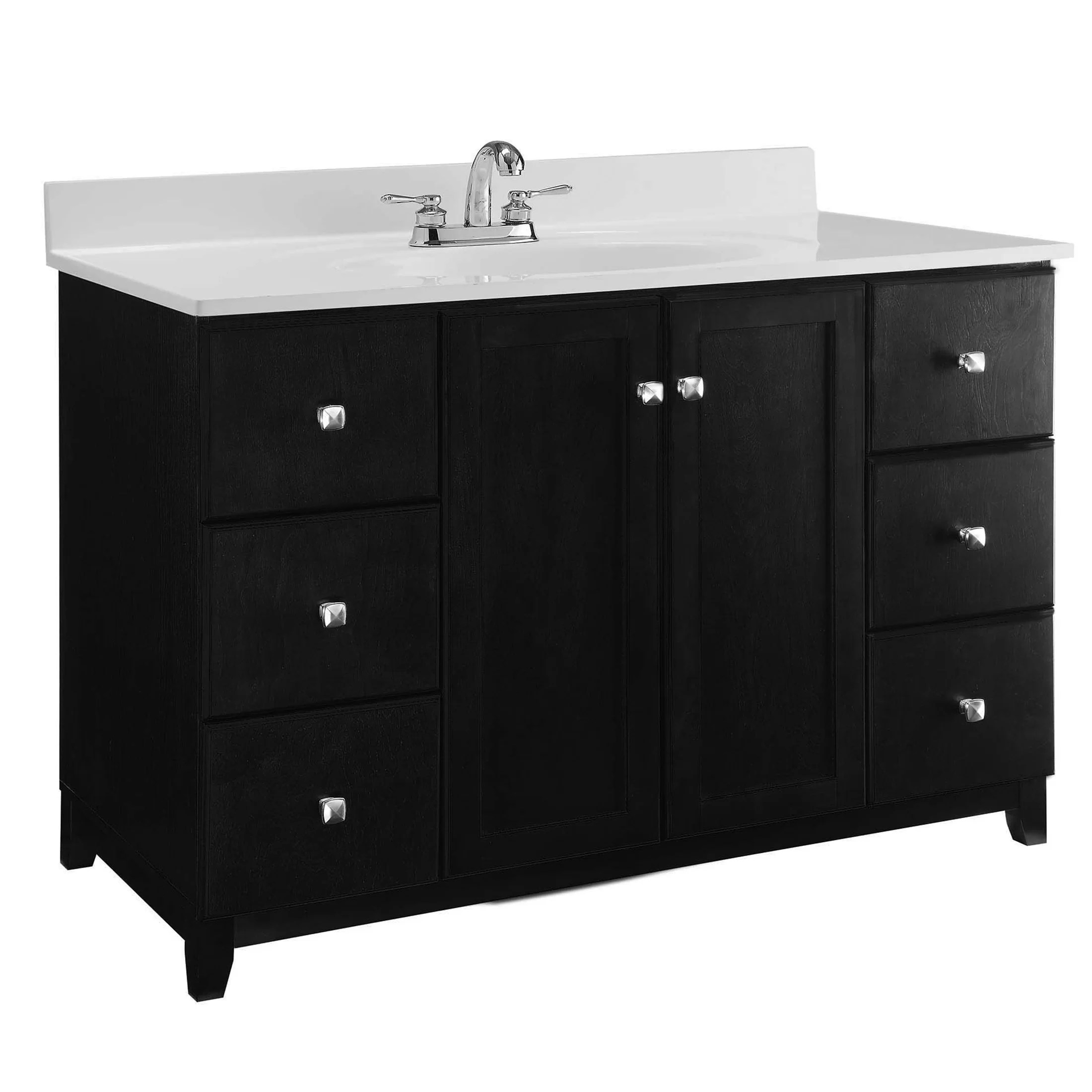 Design House Vanity Design House 51 Quot Single Sink Bathroom Vanity Base Wayfair