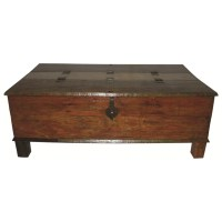 MOTI Furniture Box Trunk Coffee Table & Reviews | Wayfair