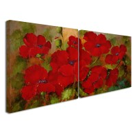 Trademark Global Red Poppies Wall Art Set & Reviews ...