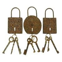 Woodland Imports 3 Piece Metal Key Wall Dcor Set ...
