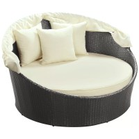 Modway Snooze Canopy Outdoor Patio Daybed with Cushion ...
