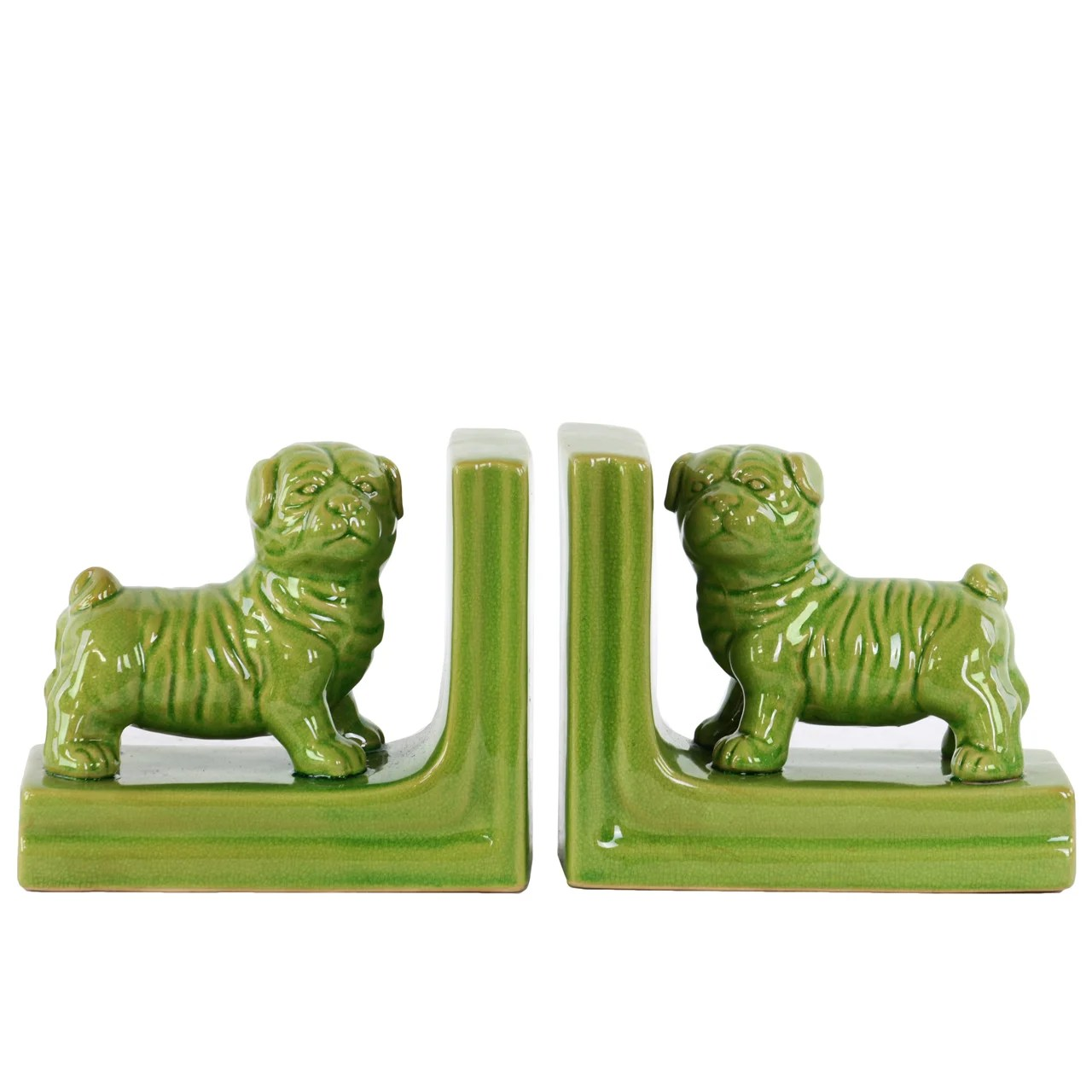 Kitchen Bookends Urban Trends Ceramic British Bulldog Bookend Wayfair