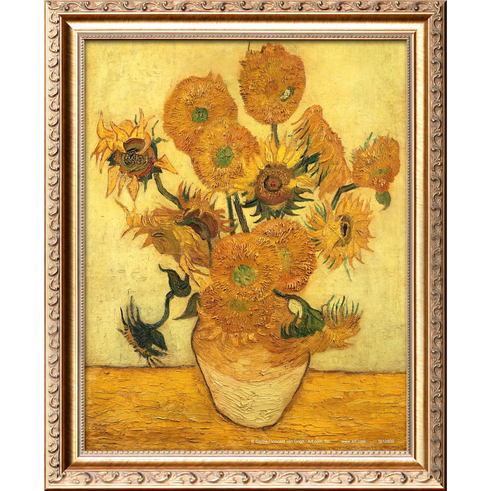 Vincent Van Gogh Paintings Sunflowers Art 39vase Of Fifteen Sunflowers C 1889 39 By Vincent