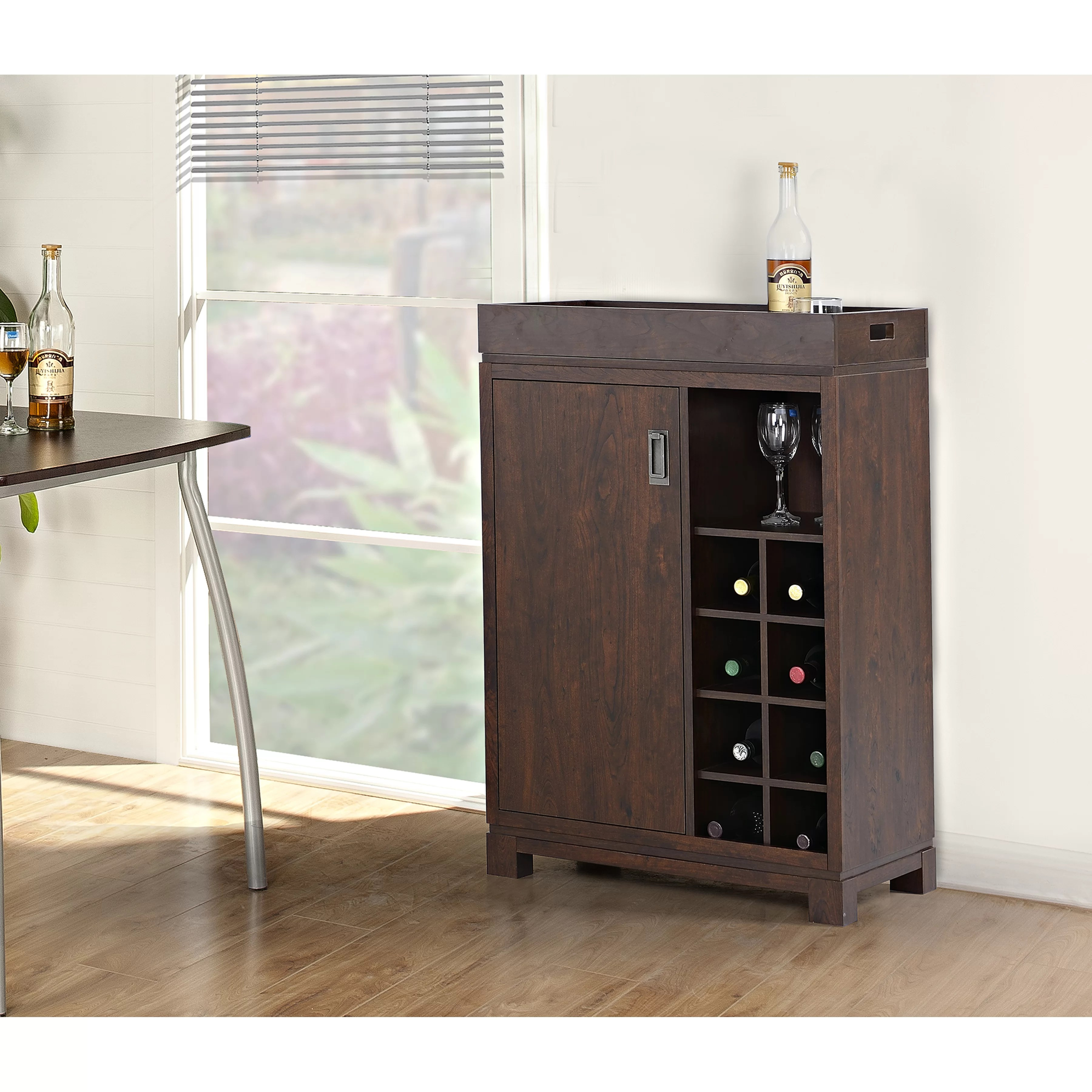 Wine Storage Cabinet Homestar Bar Cabinet With Wine Storage And Reviews Wayfair