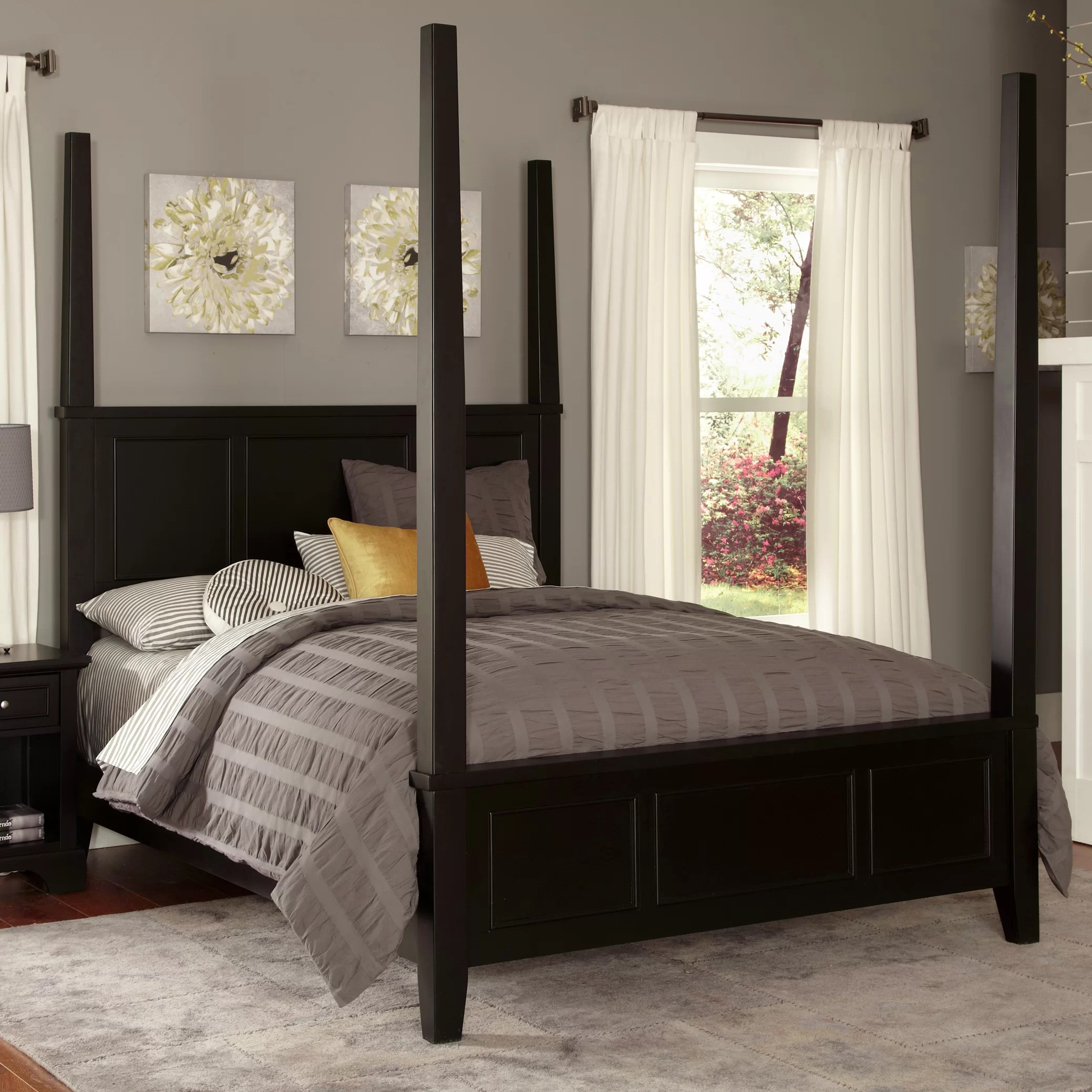 How To Build A Four Poster Bed Home Styles Bedford Four Poster Bed And Reviews Wayfair