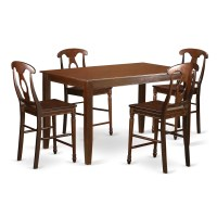 East West Dudley 5 Piece Counter Height Pub Table Set ...