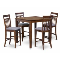 East West 5 Piece Counter Height Pub Table Set | Wayfair