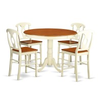East West Trenton 5 Piece Counter Height Pub Table Set ...