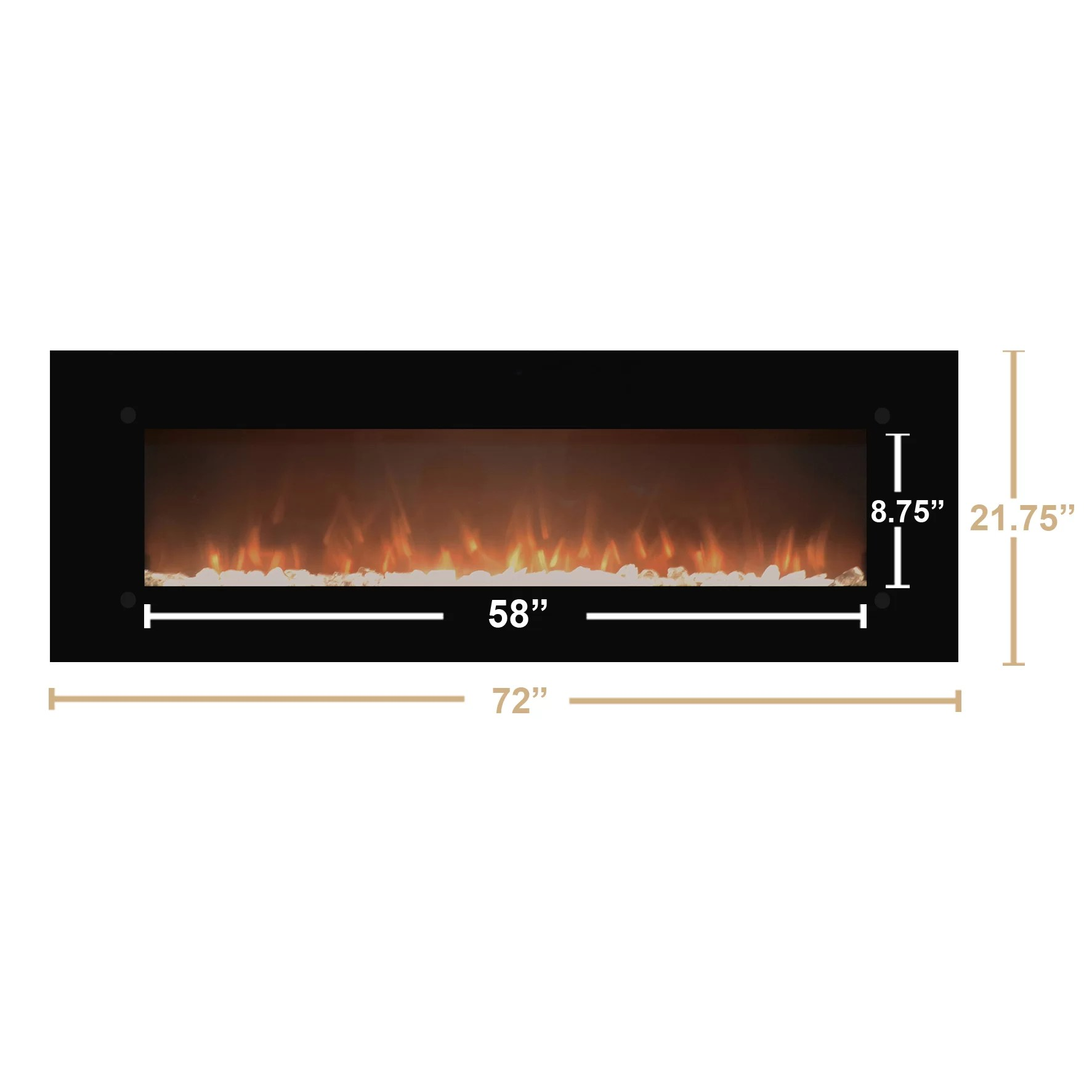 Touchstone OnyxXL Wall Mount Electric Fireplace & Reviews