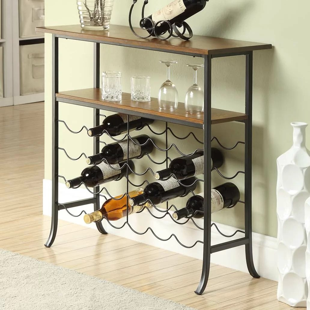 In Floor Wine Storage Carolina Cottage 24 Bottle Floor Wine Rack And Reviews