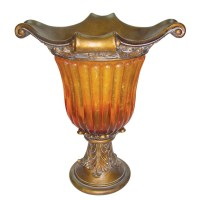 OK Lighting Gold Amber Vase & Reviews | Wayfair