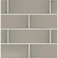 "Bedrosians Grace 4"" x 12"" Ceramic Subway Tile in Grigio ..."