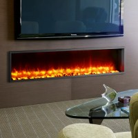"""Dynasty 63"""" Built-in LED Wall Mount Electric Fireplace ..."""
