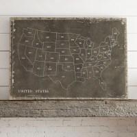 Birch Lane USA Map Wall Art & Reviews | Wayfair