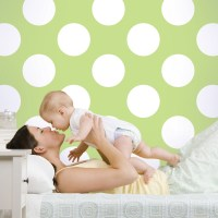 "WallCandy Arts 2.17' x 26"" Polka Dot Wallpaper 