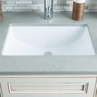 Hahn Ceramic Bowl Rectangular Undermount Bathroom Sink ...