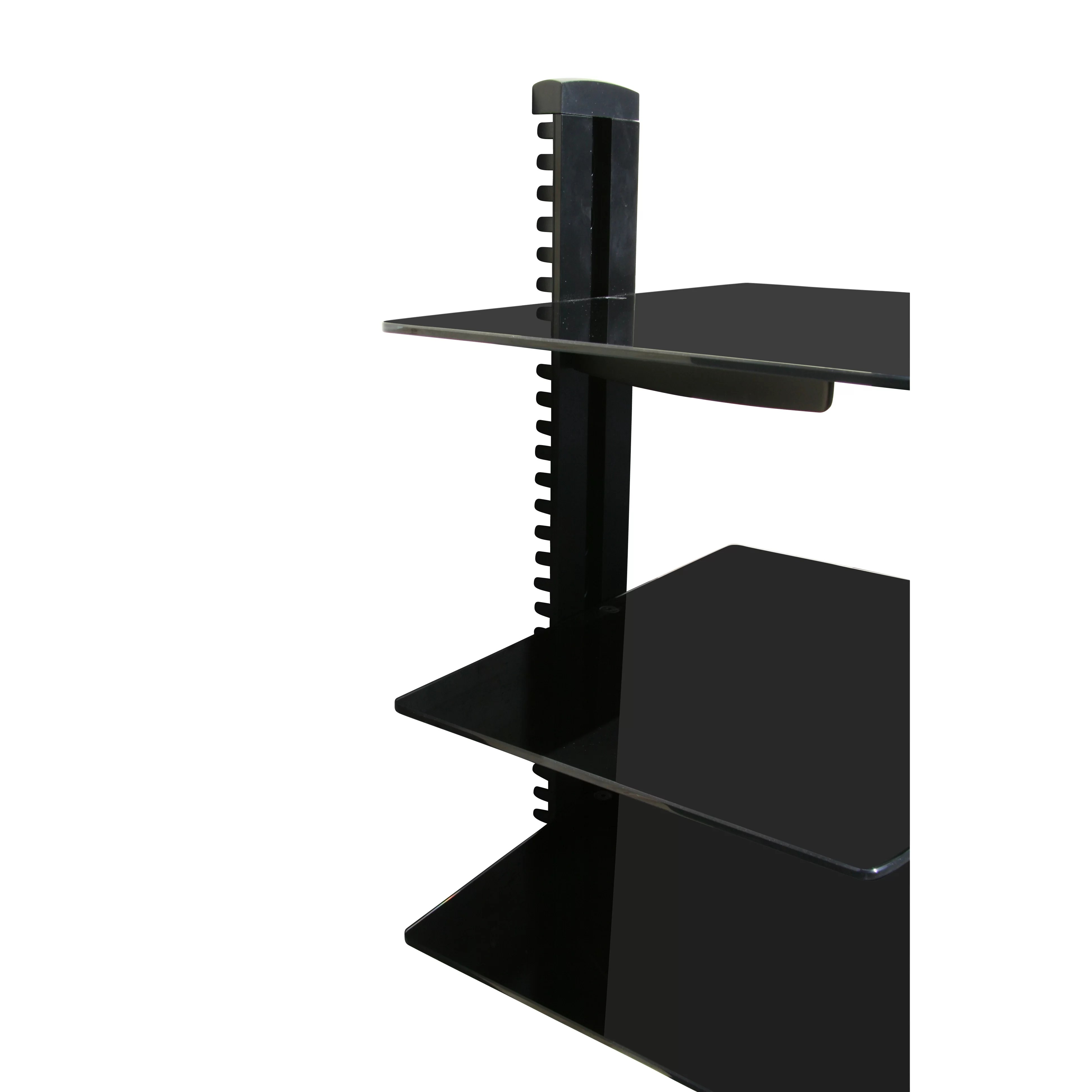 Adjustable Wall Shelf System Mount It Wall Mounted Av Component Shelving System With 3