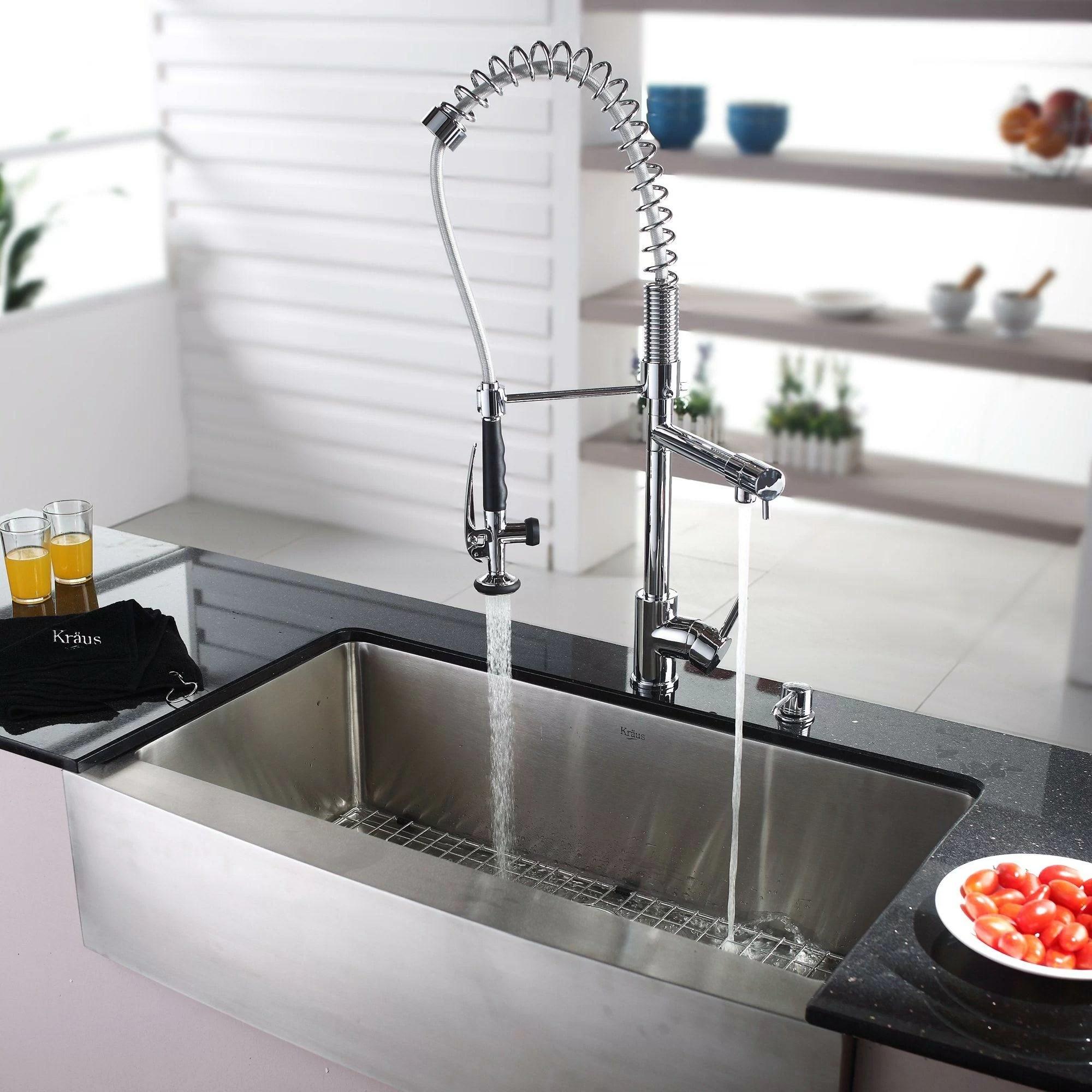 Kraus Farmhouse 3588quot X 2075quot Kitchen Sink With Faucet