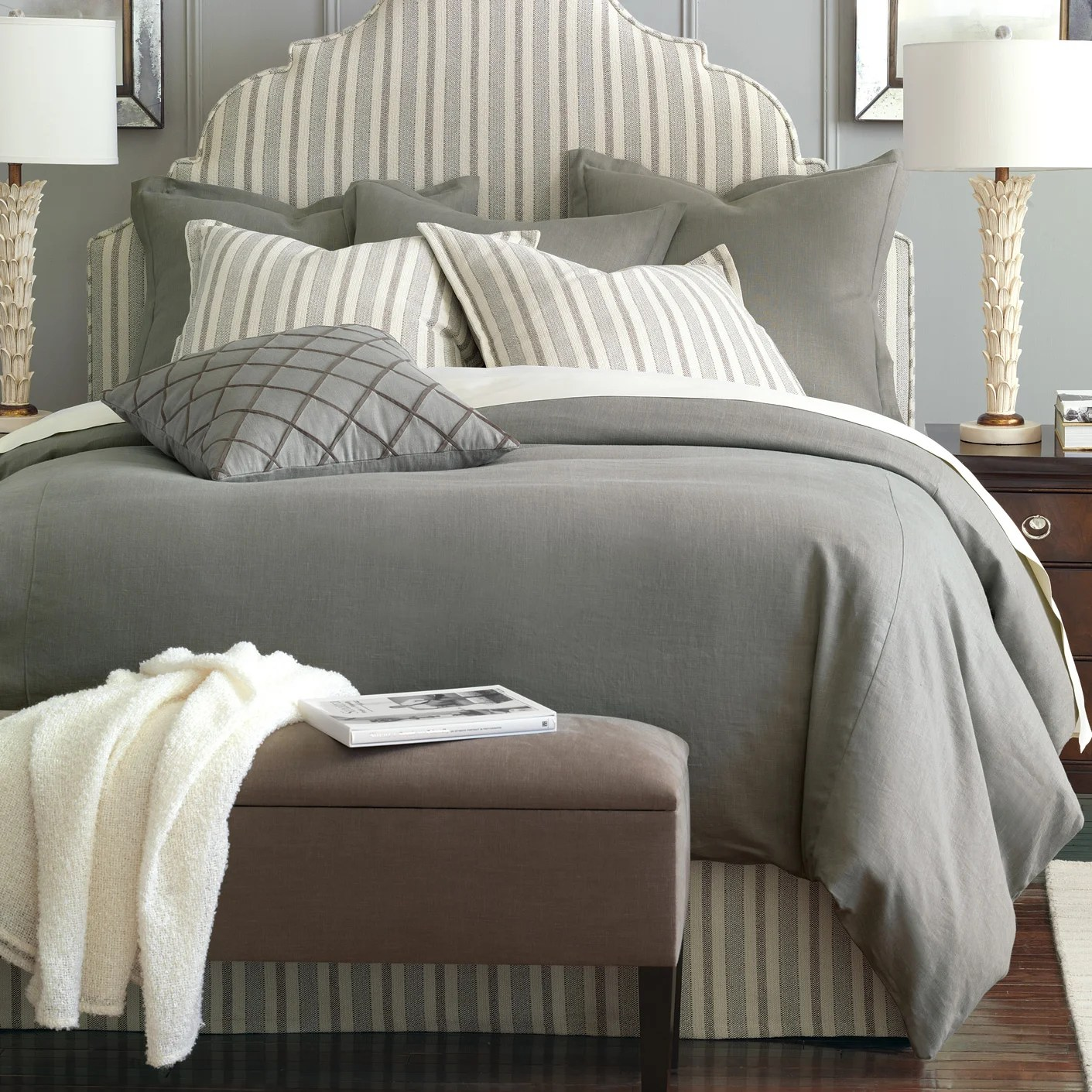 Linen Bedding Reviews Eastern Accents Breeze Pure Linen Comforter Collection