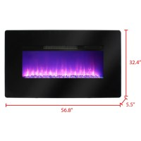 Muskoka Wall Mount Electric Fireplace | Wayfair.ca