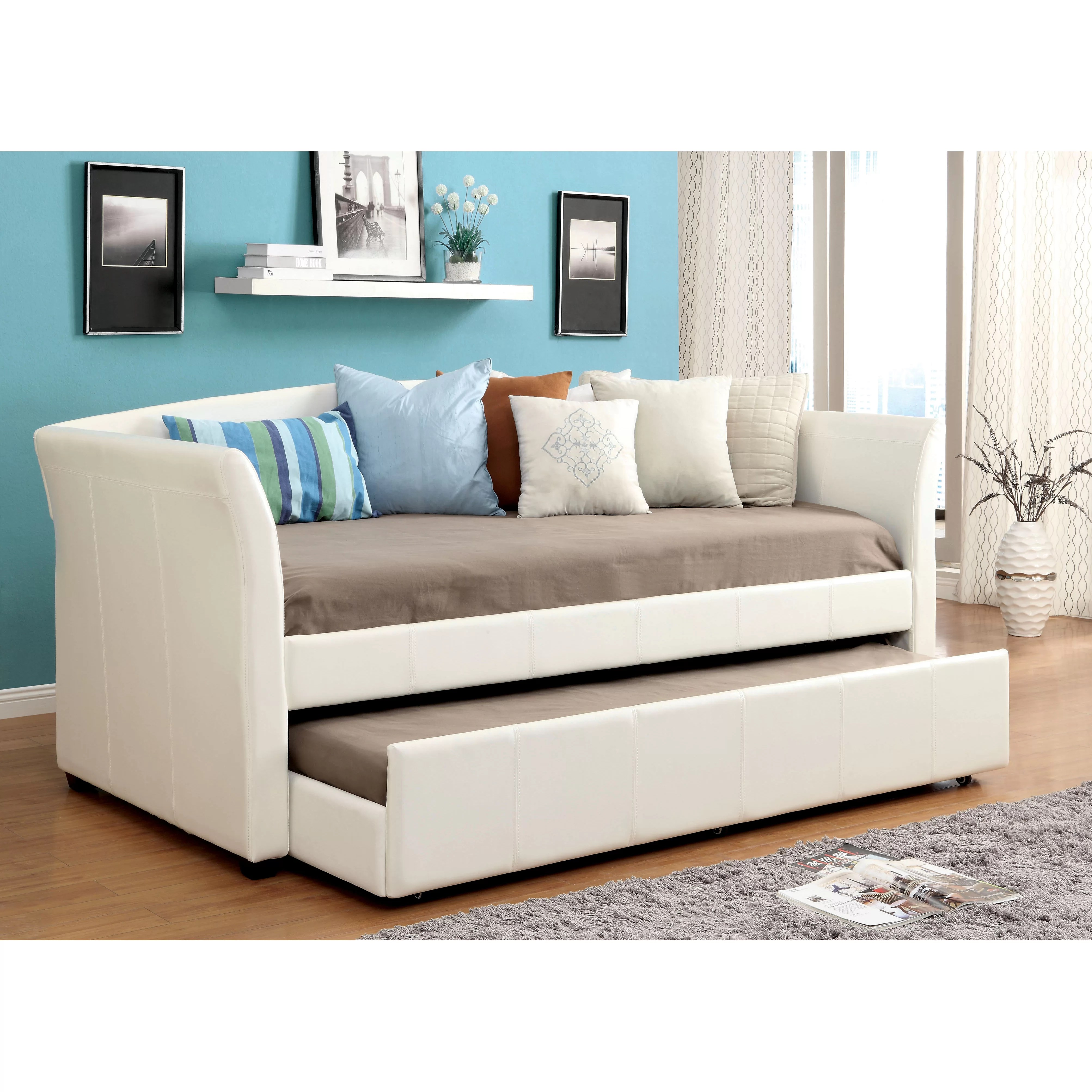 Day Bed Trundle Bed Hokku Designs Roma Daybed With Trundle And Reviews Wayfair