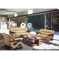 Hokku Designs Chrysocolla 3 Piece Leather Sofa Set ...