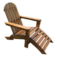 International Caravan Adirondack Chair with Footrest ...