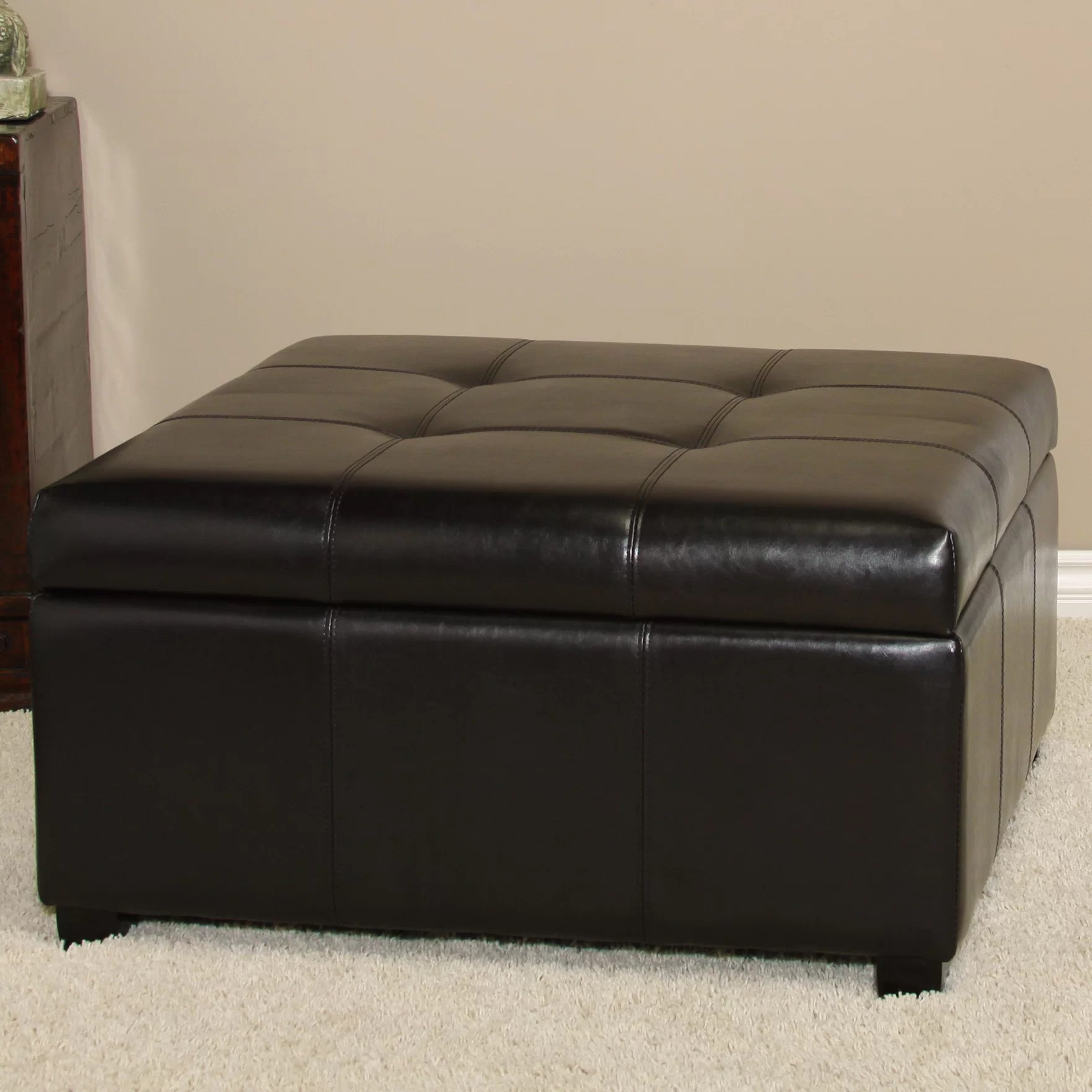 Storage Pouf Andover Mills Upholstered Storage Ottoman And Reviews Wayfair