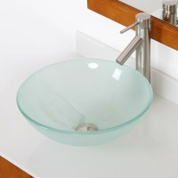 Elite Double Layered Tempered Glass Round Bowl Vessel ...