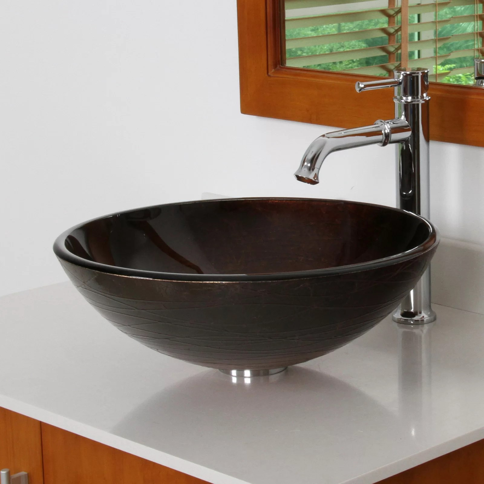 Glass Sink Bowls Bathroom Sinks Undangan Bathroom Vanity With Bowl Sink