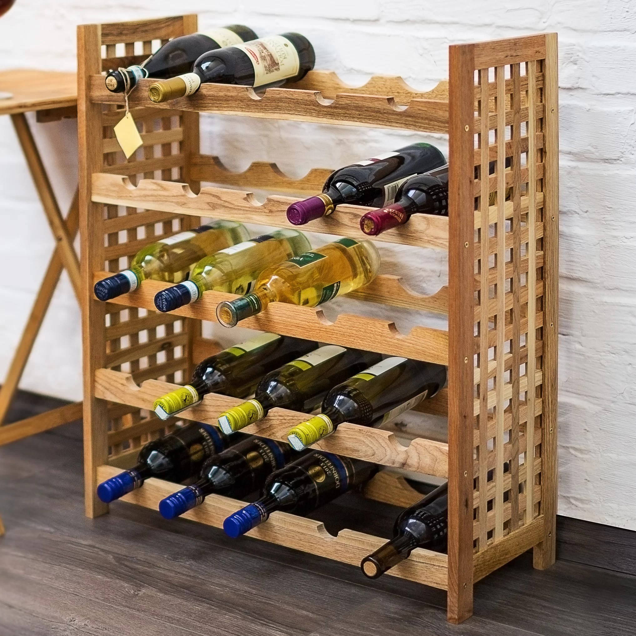 In Floor Wine Storage Castleton Home 25 Bottle Floor Wine Rack And Reviews