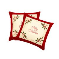 Window Elements Holiday Merry Christmas Embroidered Throw ...