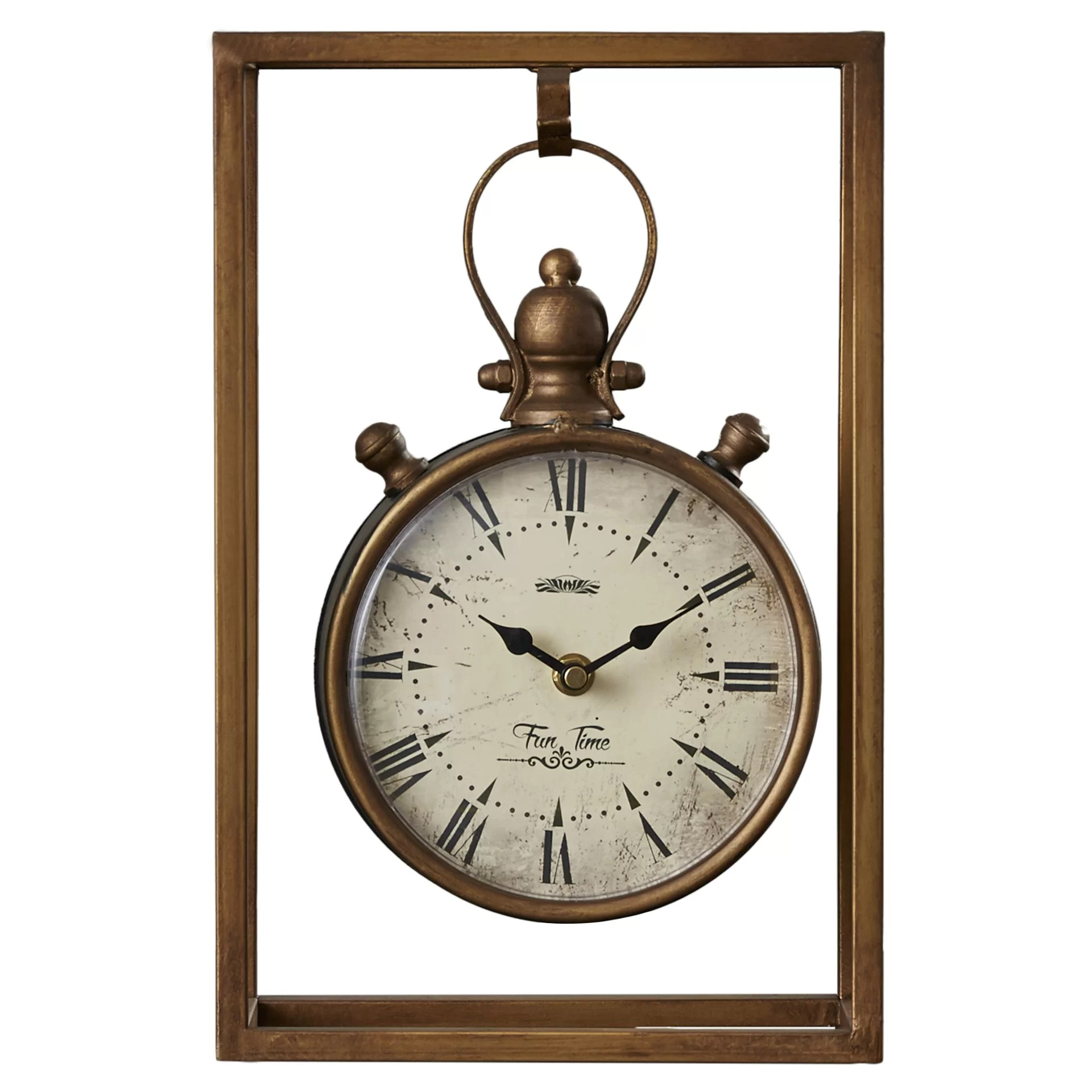Metal Table Clock Three Posts Metal Table Clock And Reviews Wayfair