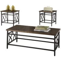 Three Posts Hartwick 3 Piece Coffee Table Set & Reviews ...