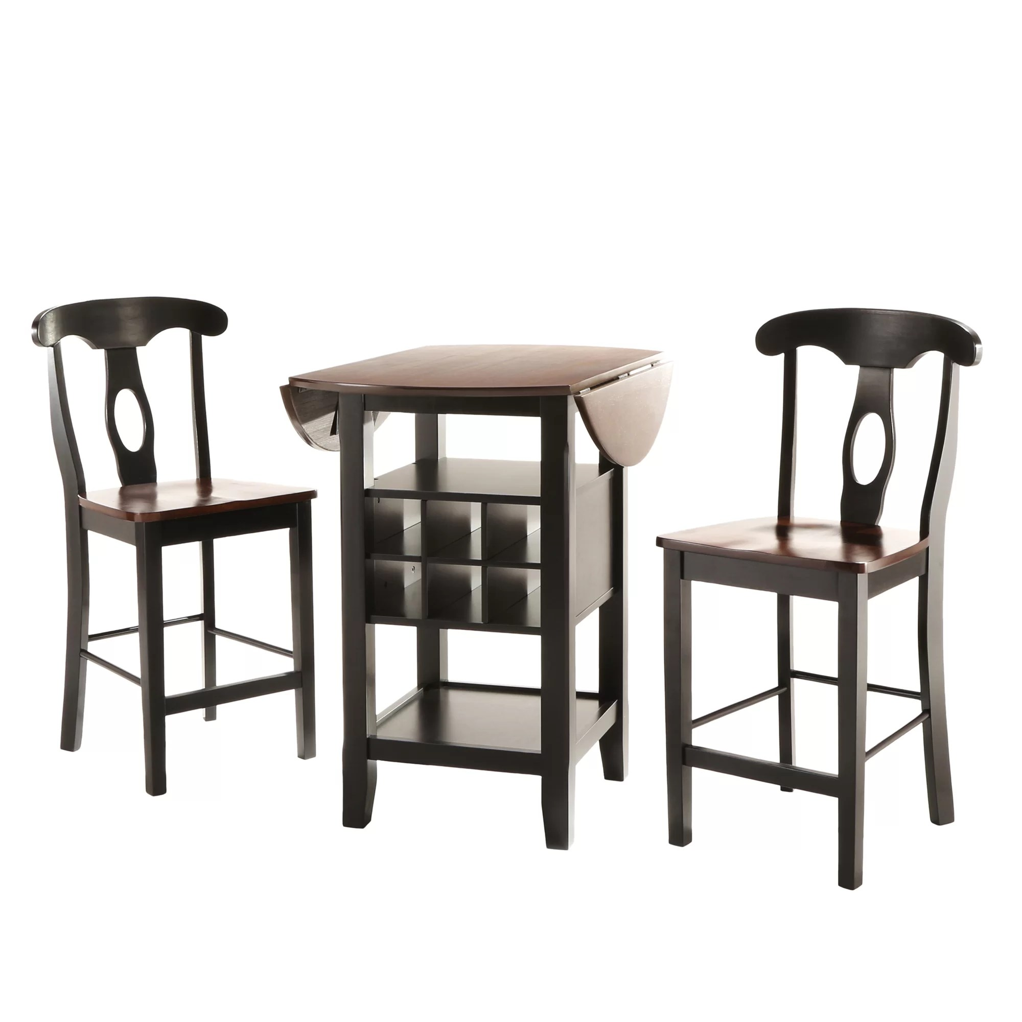 Bar Table Set Three Posts Bayford 3 Piece Counter Height Pub Table Set