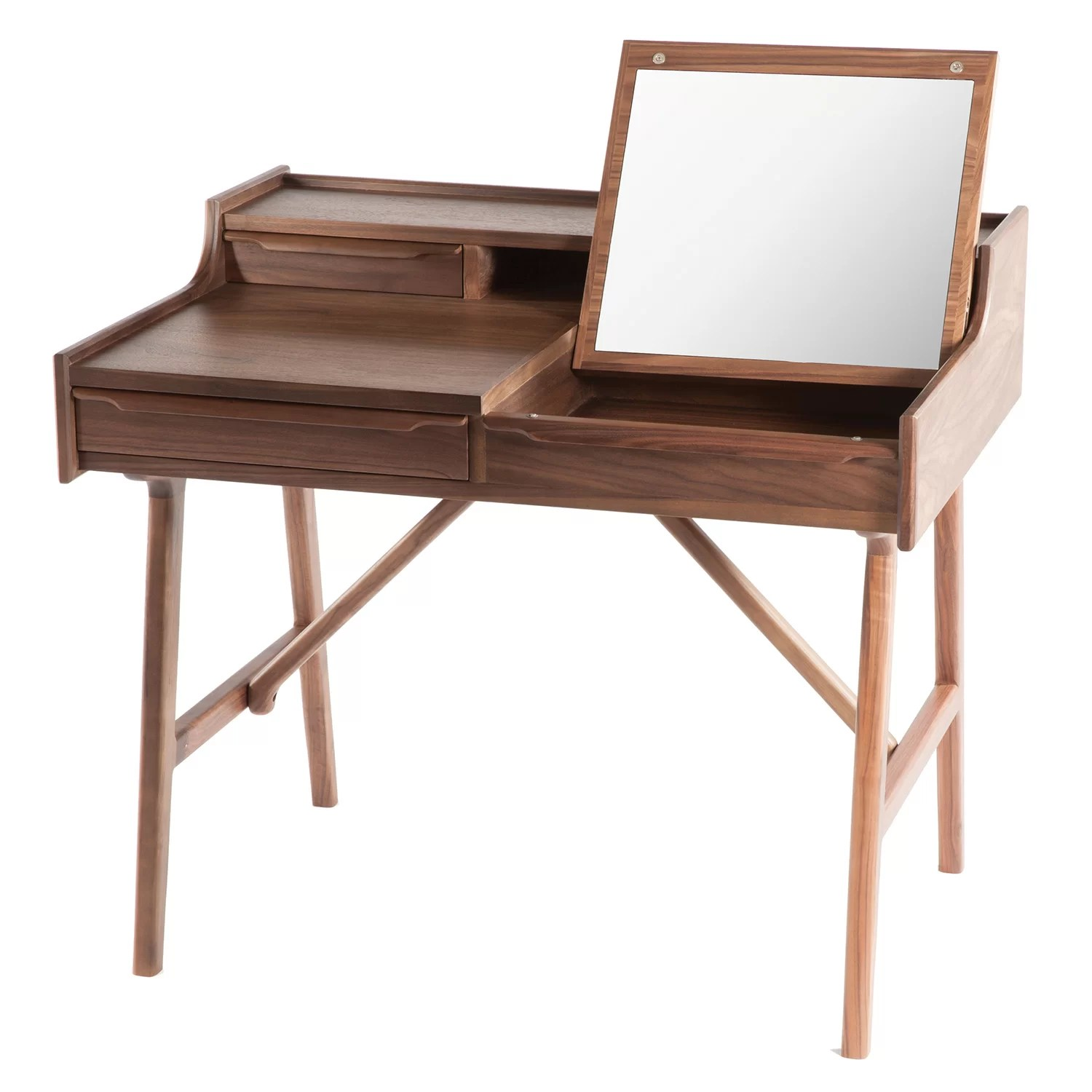 Vanity Desk Chair Dcor Design Vanity Desk With Mirror Wayfair