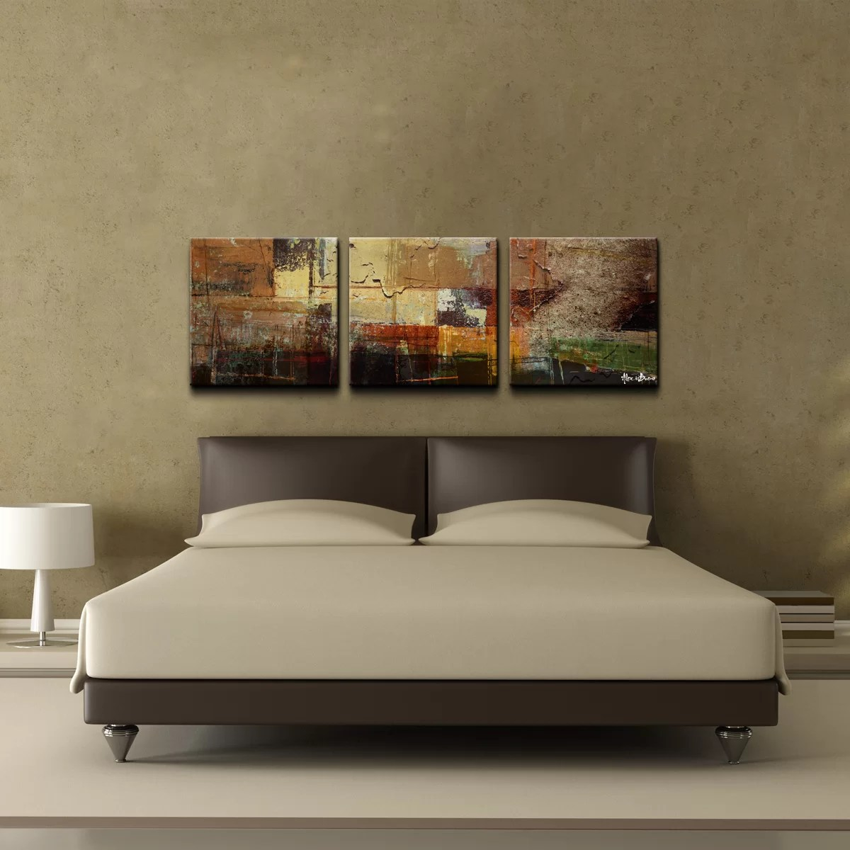 Oversized Modern Wall Art Ready2hangart Oversized Abstract 3 Piece Print Of Painting