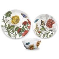 TarHong Garden Botanical Melamine 12 Piece Dinnerware Set ...