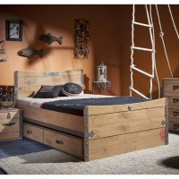 Cilek Black Pirate Full Captain Bed Set with Trundle | Wayfair