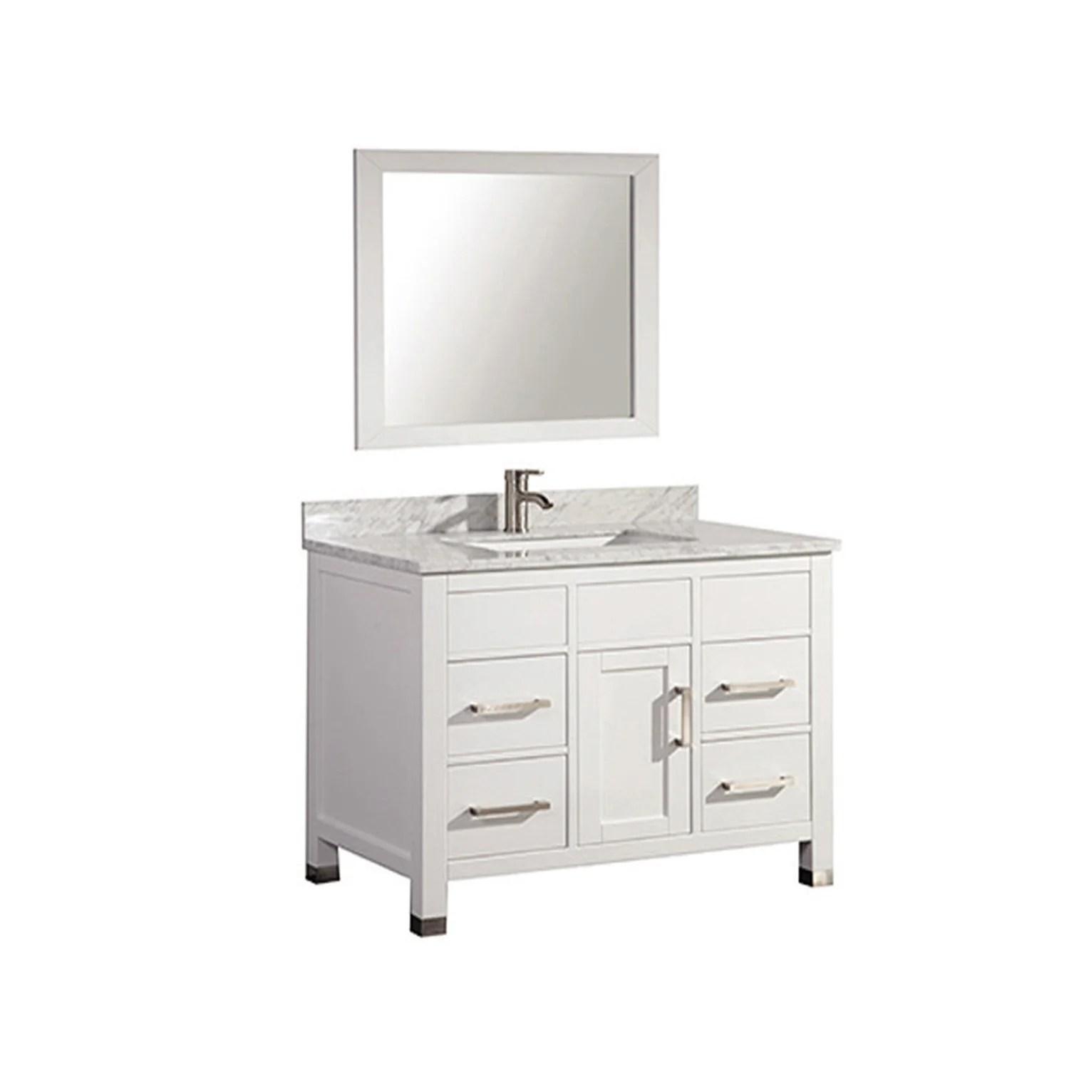 Mirrored Bathroom Vanity With Sink Mtdvanities Ricca 36 Quot Single Sink Bathroom Vanity Set With