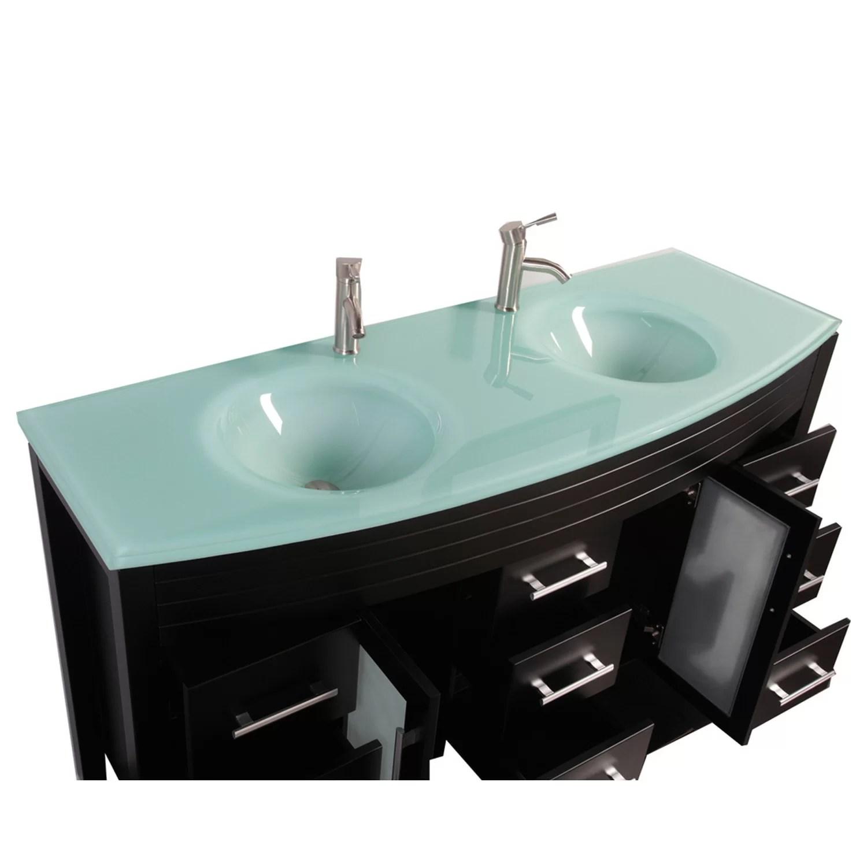 Mtdvanities Figi 63quot Double Sink Bathroom Vanity Set With