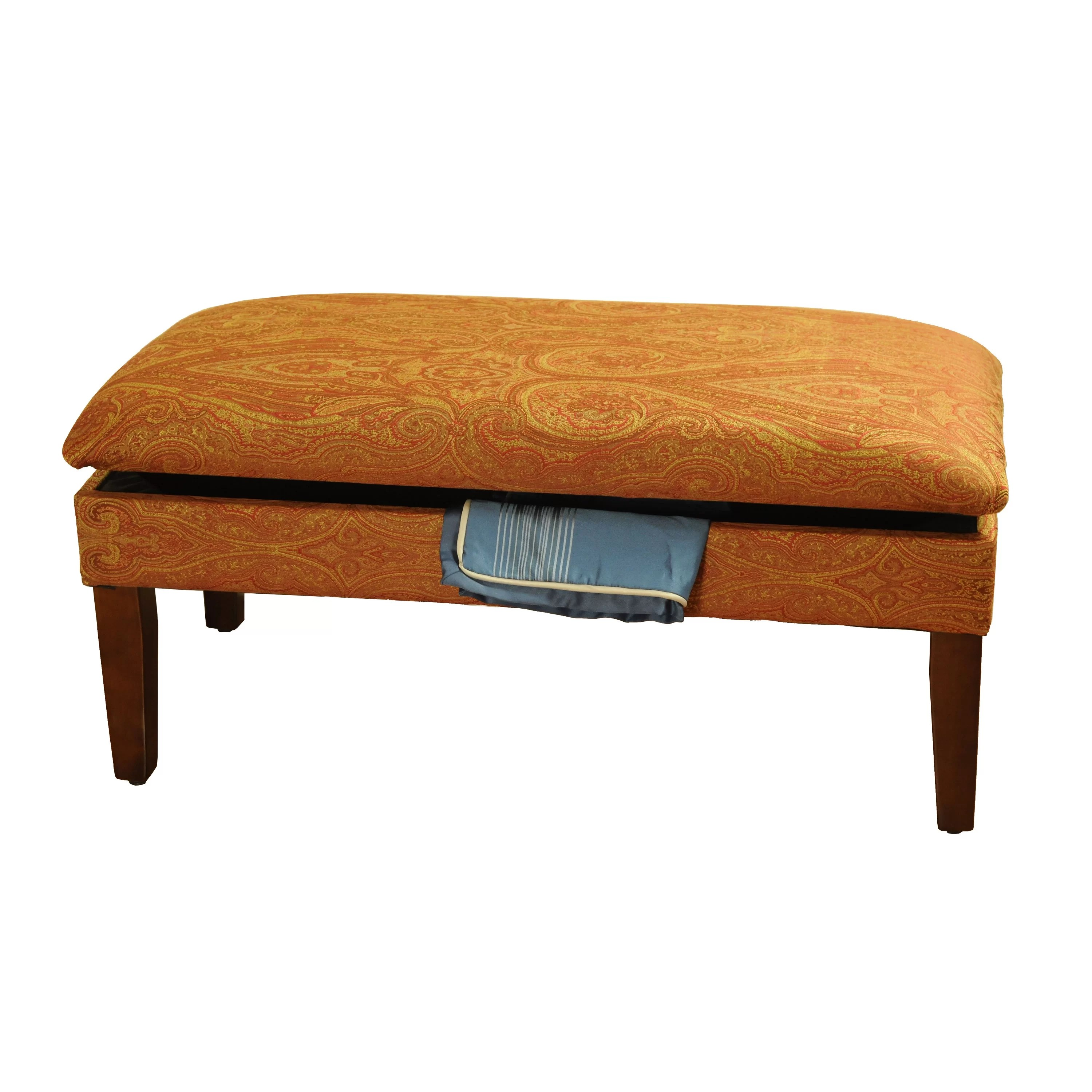 Bedroom Stools And Benches Homepop Upholstered Storage Bedroom Bench And Reviews Wayfair